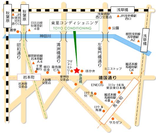 整体東京アクセス地図